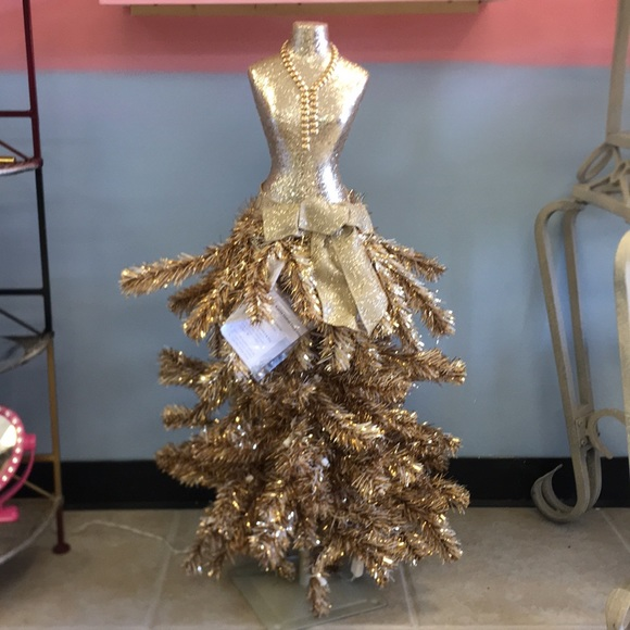 Dress Form Christmas Tree.3 Ft Champagne Dress Form Tree